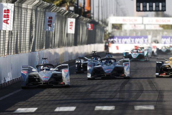 Edoardo Mortara (CHE) Venturi Formula E, Venturi VFE05, leads Felipe Massa (BRA), Venturi Formula E, Venturi VFE05