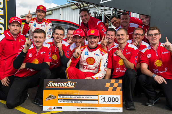 2017 Supercars Championship Round 5.  Winton SuperSprint, Winton Raceway, Victoria, Australia. Friday May 19th to Sunday May 21st 2017. Scott McLaughlin driver of the #17 Shell V-Power Racing Team Ford Falcon FGX. World Copyright: Daniel Kalisz/LAT Images Ref: Digital Image 200517_VASCR5_DKIMG_5228.JPG