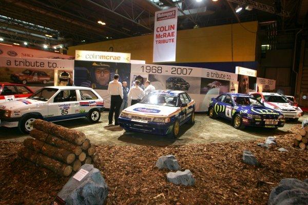Colin McRae tribute display.  Autosport Show, NEC, Birmingham, England, 10 January 2008