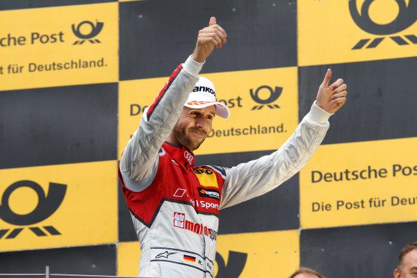 2017 DTM Round 8  Red Bull Ring, Spielberg, Austria  Sunday 24 September 2017. Podium: Race winner René Rast, Audi Sport Team Rosberg, Audi RS 5 DTM  World Copyright: Alexander Trienitz/LAT Images ref: Digital Image 2017-DTM-RBR-AT3-2716