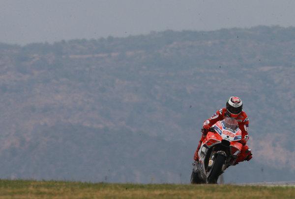 2017 MotoGP Championship - Round 14 Aragon, Spain. Friday 22 September 2017 Jorge Lorenzo, Ducati Team World Copyright: Gold and Goose / LAT Images ref: Digital Image 693637