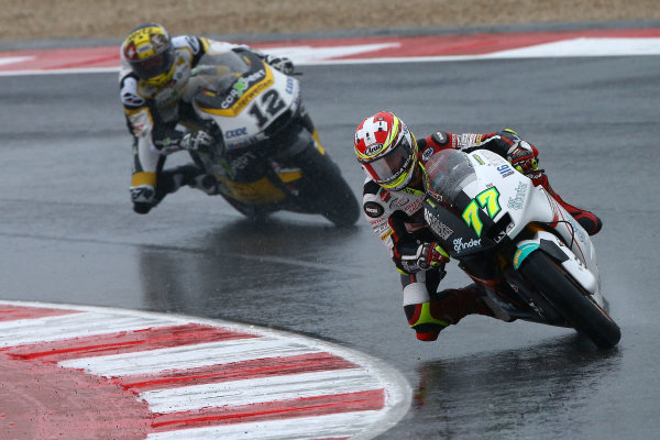 2017 Moto2 Championship - Round 13 Misano, Italy. Sunday 10 September 2017 Dominique Aegerter, Kiefer Racing, Thomas Luthi, CarXpert Interwetten World Copyright: Gold and Goose / LAT Images ref: Digital Image 7876