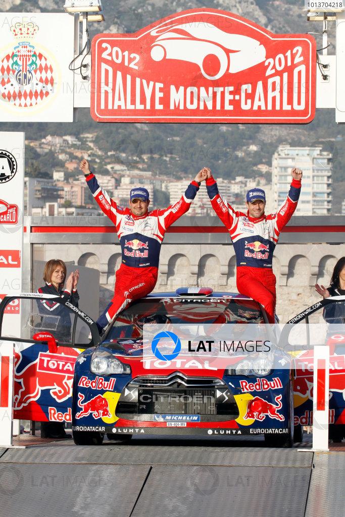 Round 01-Rally Monte Carlo 17-22 January 2012. Sebastien Loeb, Daniel Elena, Citroen WRC, PodiumWorldwide Copyright: McKlein/LAT