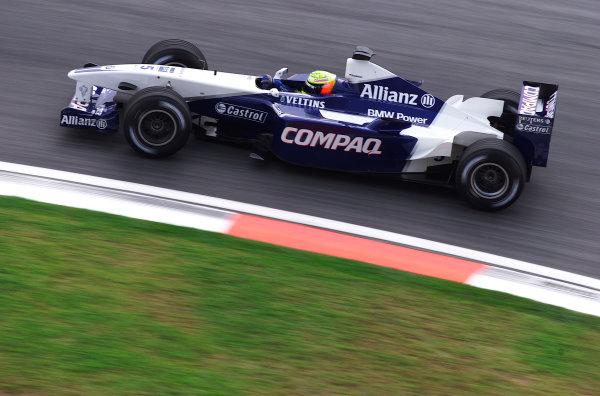 2001 Malaysian Grand Prix.Sepang, Kuala Lumpur, Malaysia. 16-18 March 2001.Ralf Schumacher (Williams FW23 BMW) 5th position.World Copyright - Steve Etherington/LAT Photographic.ref: 18mb Digital Image