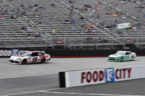 #18: Harrison Burton, Joe Gibbs Racing, Toyota Supra Dex Imaging, #22: Austin Cindric, Team Penske, Ford Mustang MoneyLion