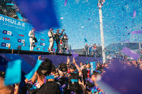 Championship winner Jean-Eric Vergne (FRA), DS TECHEETAH celebrates on the podium