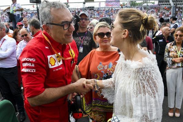 Corinna Schumacher and Gina-Maria Schumacher celebrating the F2 win of Mick Schumacher (DEU, PREMA RACING)