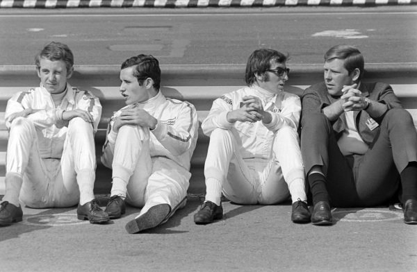 Piers Courage, Jacky Ickx, and Jackie Stewart.
