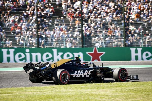 Damaged Car of Kevin Magnussen, Haas VF-19