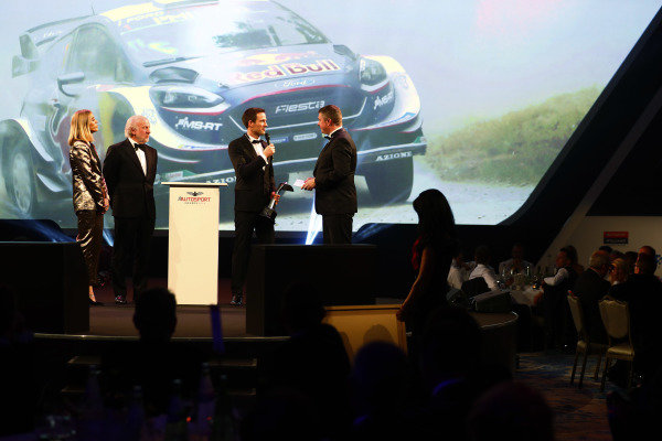 David Richards presents the Rally Driver of the Year to Sebastien Ogier