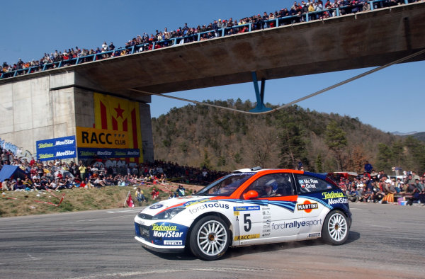 2002 World Rally ChampionshipRally Catalunya, 21st-24th March 2002.Colin McRae on Stage 18.Photo: Ralph Hardwick/LAT
