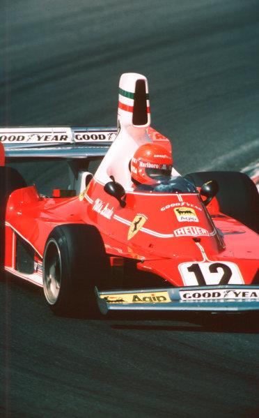 1975 Dutch Grand Prix.Zandvoort, Holland.20-22 June 1975.Niki Lauda (Ferrari 312T) 2nd position.World Copyright - LAT Photographic