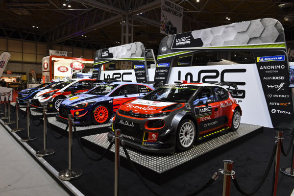 Ford, Toyota, Hyundai and Citroen WRC cars.