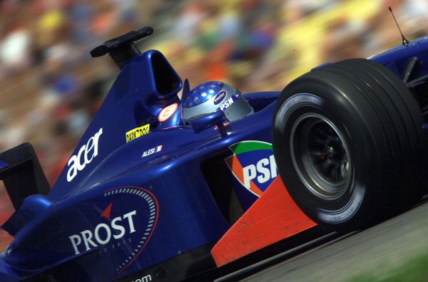 2001 German Grand Prix - PracticeHockenheim, Germany. 27th July 2001.Jean Alesi, Prost Acer AP04, action.World Copyright: Steve Etherington/LAT Photographic.ref: 16mb Digital Image
