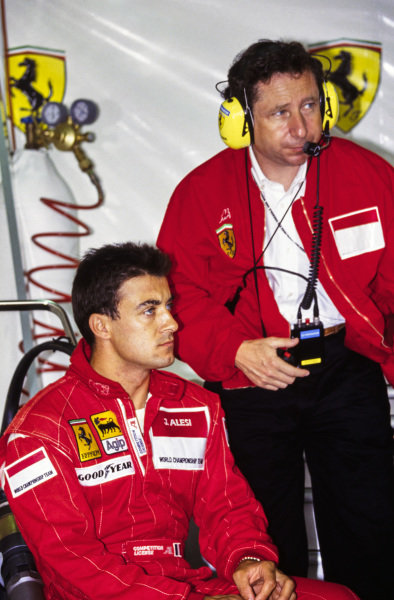 Jean Alesi and Jean Todt.