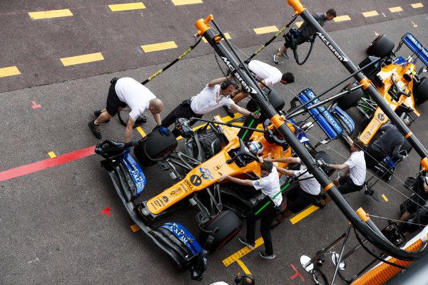 Carlos Sainz Jr., McLaren MCL34 and Lando Norris, McLaren MCL34