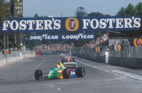 1990 Australian Grand Prix.Adelaide, Australia.2-4 November 1990.Nelson Piquet (Benetton B190 Ford) 1st position.Ref-90 AUS 30.World Copyright - LAT Photographic
