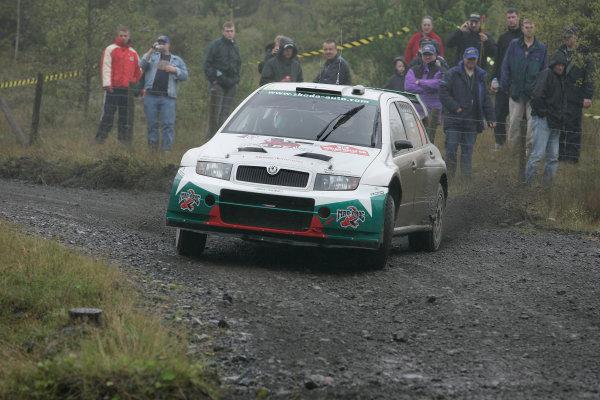 2004 FIA World Rally Champs. Round twelve, Wales Rally GB.16th- 19th September 2004.Jani Paasonen, Skoda, action.World Copyright: McKlein/LAT