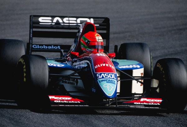 1993 Japanese Grand Prix. Suzuka, Japan. 22-24 October 1993. Eddie Irvine (Jordan 193 Hart) 6th position. Ref-93 JAP 25. World Copyright - LAT Photographic