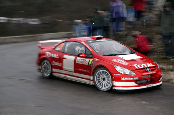 2004 FIA World Rally Champs. Round one, Monte Carlo Rally.22nd-25th January 2004.Freddy Loix, Peugeot, ActionWorld Copyright: McKlein/LAT