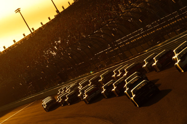 NASCAR XFINITY Series Ford EcoBoost 300 Homestead-Miami Speedway, Homestead, FL USA Saturday 18 November 2017 Cole Custer, Haas Automation Ford Mustang leads the field into the sunset World Copyright: Michael L. Levitt LAT Images