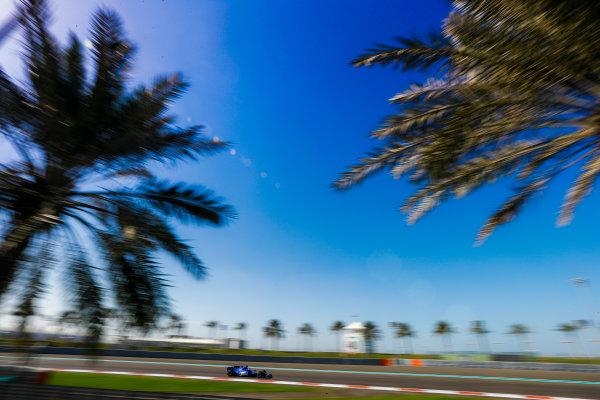 Yas Marina Circuit, Abu Dhabi, United Arab Emirates. Wednesday 29 November 2017. Charles Leclerc, Sauber C36 Ferrari. World Copyright: Joe Portlock/LAT Images  ref: Digital Image _R3I4235