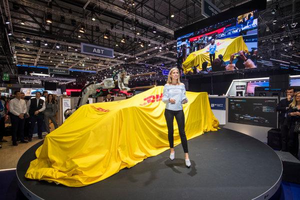2017/2018 FIA Formula E Championship. Geneva Motor Show Tuesday 6 March 2018. The FIA Formula-E Gen2 car is unveiled. Photo: Sam Bloxham/LAT/Formula E ref: Digital Image _W6I3749