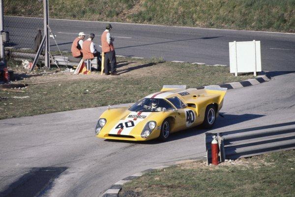 1969 Monza 1000kms.Monza, Italy. 25th April 1969.Jo Bonnier/Herbert Muller, Lola T70 Mk3B, retired, action.World Copyright: LAT PhotographicRef: