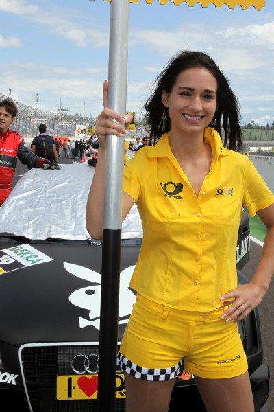 DTM grid girl. DTM, Rd4, Eurospeedway Lausitz, Germany, 18-19 June 2011.
