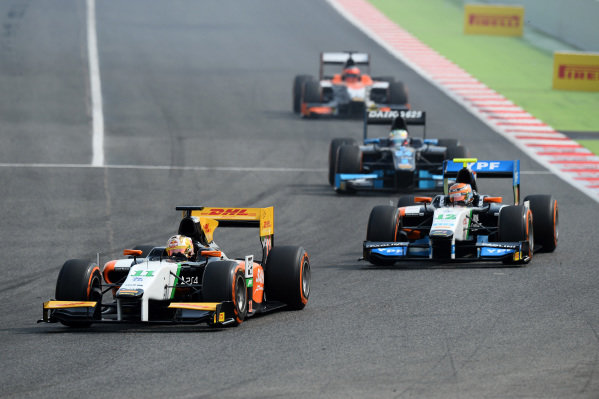 Daniel Abt (GER) Hilmer Motorsport. GP2 Series, Rd2, Barcelona, Spain, 9-11 May 2014.