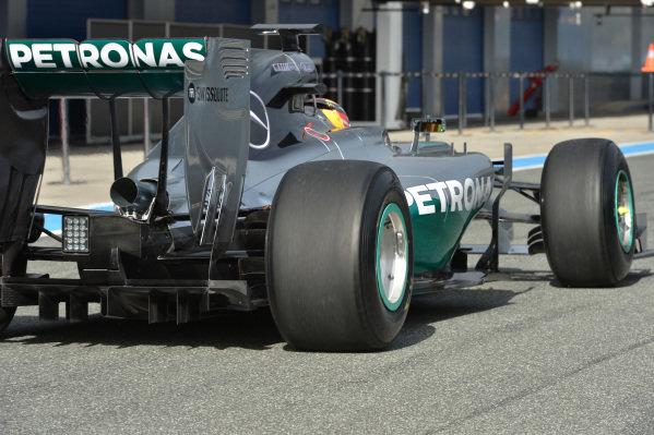 Lewis Hamilton (GBR) Mercedes AMG F1 W05. Formula One Testing, Jerez, Spain, Day One, Tuesday 28 January 2014.
