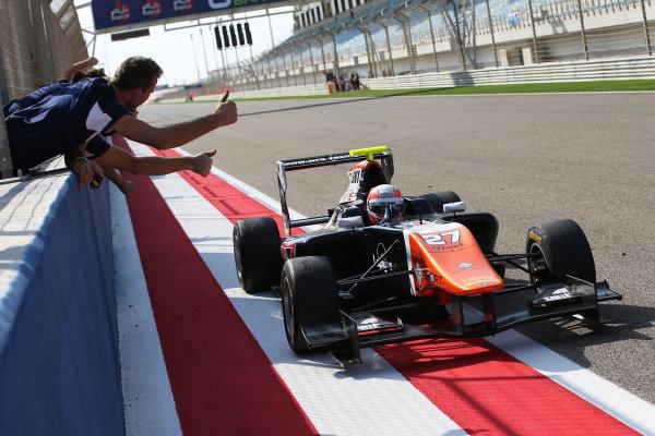 2015 GP3 Series Round 8. Bahrain International Circuit, Bahrain Saturday 21 November 2015. Luca Ghiotto (ITA, Trident)  Photo: Jakob Ebrey/GP3 Series Media Service. ref: Digital Image AD8T9851