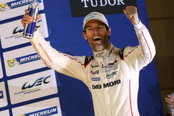 2015 FIA World Endurance Championship, Bahrain International Circuit, Bahrain. 19th - 21st November 2015. Mark Webber / Porsche Team Porsche 919 Hybrid World Copyright: Jakob Ebrey / LAT Photographic.