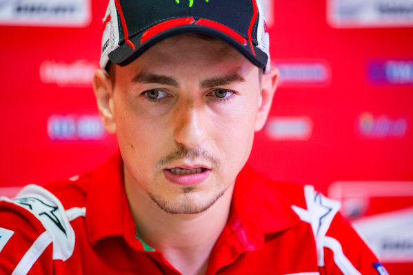 2017 MotoGP Championship - Round 10 Brno, Czech Republic Friday 4 August 2017 Jorge Lorenzo, Ducati Team World Copyright: Gold and Goose / LAT Images ref: Digital Image 49883
