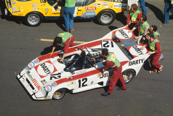 Le Mans, France. 14-15 June 1975 HervŽ Bayard/Heinz Schulthess/AndrŽ Savary (Lola T284 Ford), retired, action. World Copyright: LAT PhotographicRef: 75LM26.