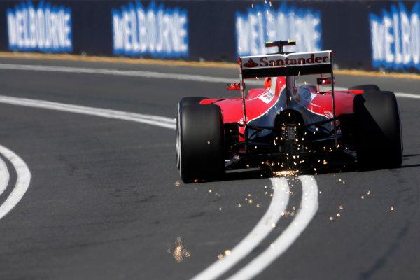 Albert Park, Melbourne, Australia. Friday 13 March 2015. Kimi Raikkonen, Ferrari SF-15T. World Copyright: Charles Coates/LAT Photographic. ref: Digital Image _J5R2491
