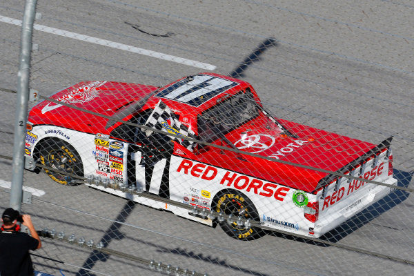 17-18 October, 2014, Talladega, Alabama USA Timothy Peters celebrates his win ? 2014, Russell LaBounty LAT Photo USA