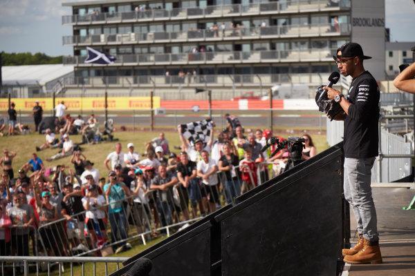 Silverstone Circuit, Northamptonshire, England. Saturday 4 July 2015. Lewis Hamilton, Mercedes AMG. World Copyright: Steve Etherington/LAT Photographic ref: Digital Image SNE18787