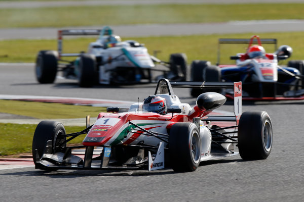 FIA F3 European Championship - Round 1, Race 3. Silverstone, Northamptonshire, UK 10th - 12th April 2015 1 Felix Rosenqvist (SWE, Prema Powerteam, Dallara F312 – Mercedes-Benz), 12 Pietro Fittipaldi (BRA, Fortec Motorsports, Dallara F312 – Mercedes-Benz), 22 Nabil Jeffri (MYS, Motopark, Dallara F312 – Volkswagen). Copyright Free FOR EDITORIAL USE ONLY. Mandatory Credit: FIA F3. ref: Digital Image FIAF3-1428834970