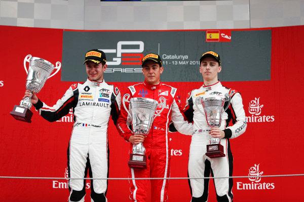 Giuliano Alesi (FRA, Trident), Jake Hughes (GBR, ART Grand Prix) and Anthoine Hubert (FRA, ART Grand Prix)