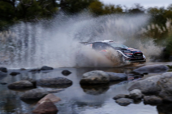 Sebastien Ogier makes a splash on Rally Argentina