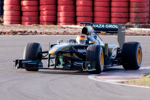 February 2010.Fairuz Fauzy in action in the Lotus T127 Cosworth.Photo: Copyright Free - Lotus F1ref: Digital Image Fairuz Fauzy, Lotus T127_2