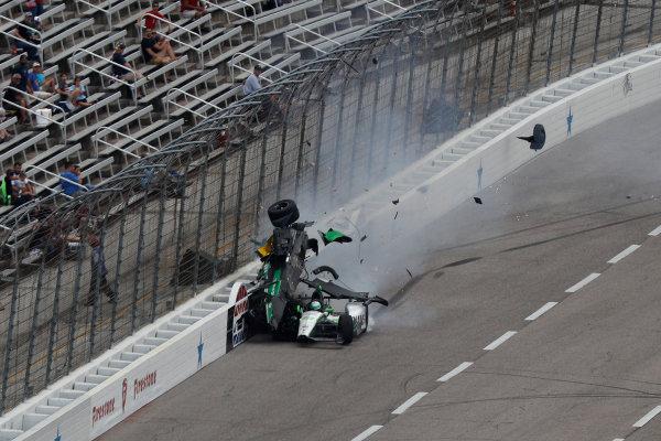 10-11 June, 2016, Fort Worth, Texas, USA Josef Newgarden Conor Daly crash ?2016, Michael L. Levitt LAT Photo USA