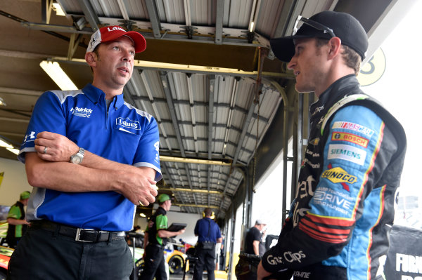 30 June-2 July, 2016, Daytona Beach, Florida USA Chad Knaus and Kasey Kahne ?2016, Nigel Kinrade LAT Photo USA