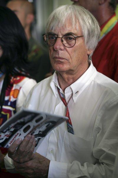 2006 German Grand Prix - Friday Practice Hockenheim, Germany. 27th - 30th July. Bernie Ecclestone, portrait. World Copyright: Steven Tee/LAT Photographic ref: Digital Image VY9E3164