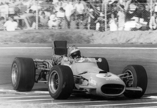 1968 Mexican Grand Prix.Mexico City, Mexico. 3 November 1968.Henri Pescarolo, Matra MS11, 9th position, action.World Copyright: LAT PhotographicRef: Autosport b&w print