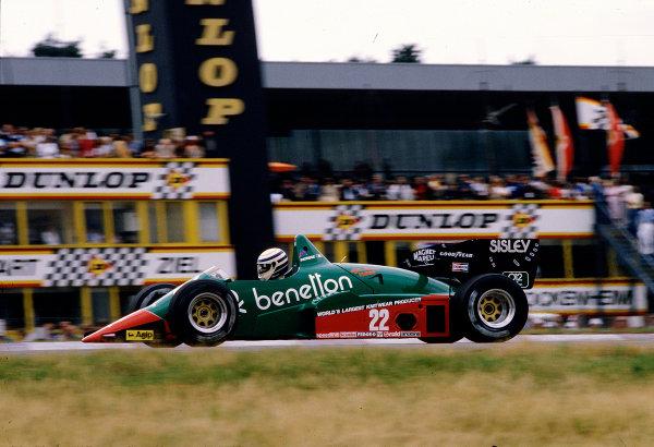 1984 German Grand Prix.Hockenheim, Germany.3-5 August 1984.Riccardo Patrese (Alfa Romeo 184T).Ref-84 GER 22.World Copyright - LAT Photographic