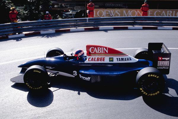 1993 Monaco Grand Prix.Monte Carlo, Monaco.20-23 May 1993.Ukyo Katayama (Tyrrell 020C Yamaha) at Loews Hairpin.Ref-93 MON 34.World Copyright - LAT Photographic