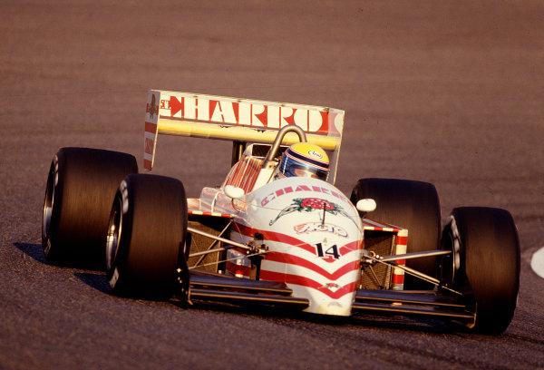 1987 Japanese Grand Prix.Suzuka, Japan.29/10-1/11 1987.Roberto Moreno (AGS JH22 Ford).Ref-87 JAP 29.World Copyright - LAT Photographic