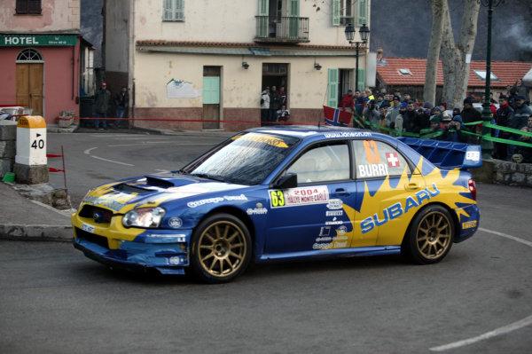 2004 FIA World Rally Champs. Round one, Monte Carlo Rally.22nd-25th January 2004.Olivier Burri, Subaru, Action.World Copyright: McKlein/LAT